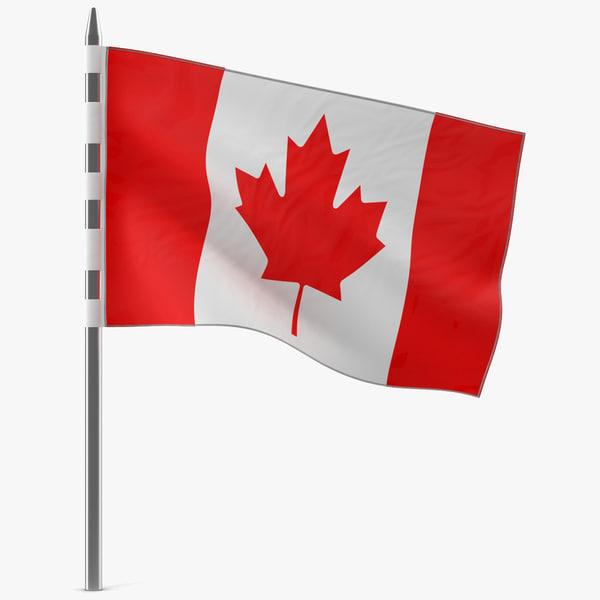 canadian flag modeled 3ds