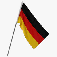 germany flag modeled 3d model