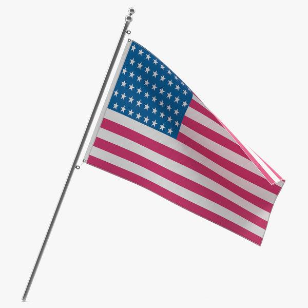 max american flag modeled