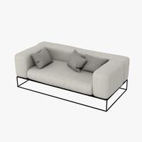 3d ile club sofa