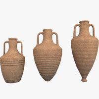 Amphoras Pack 1 Low Poly