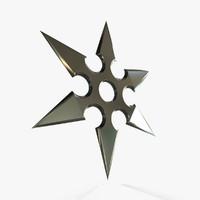 3d model shuriken v2