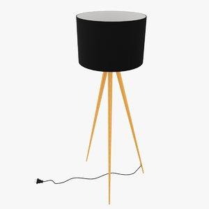 zuiver tripod lamp 3d model