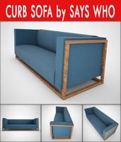 curb sofa says 3d max