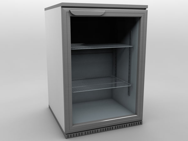3d fridge refrigerator model