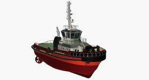 3d model t-rex harbor tug