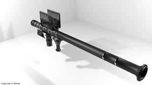 rocket launcher shoulder-fired 3d model