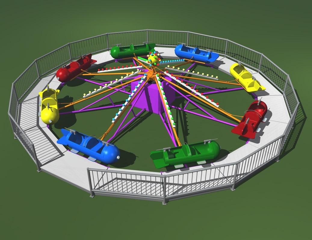 carnival ride sky fighter 3d ma