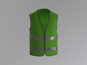 3d model worker vest