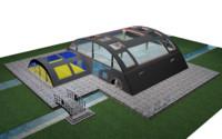 3d cottage-bungalow family rest model