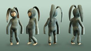 rabbit animation 3d model