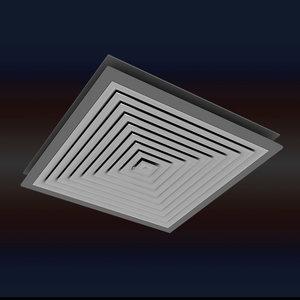 air cond 60 60cm 3d max