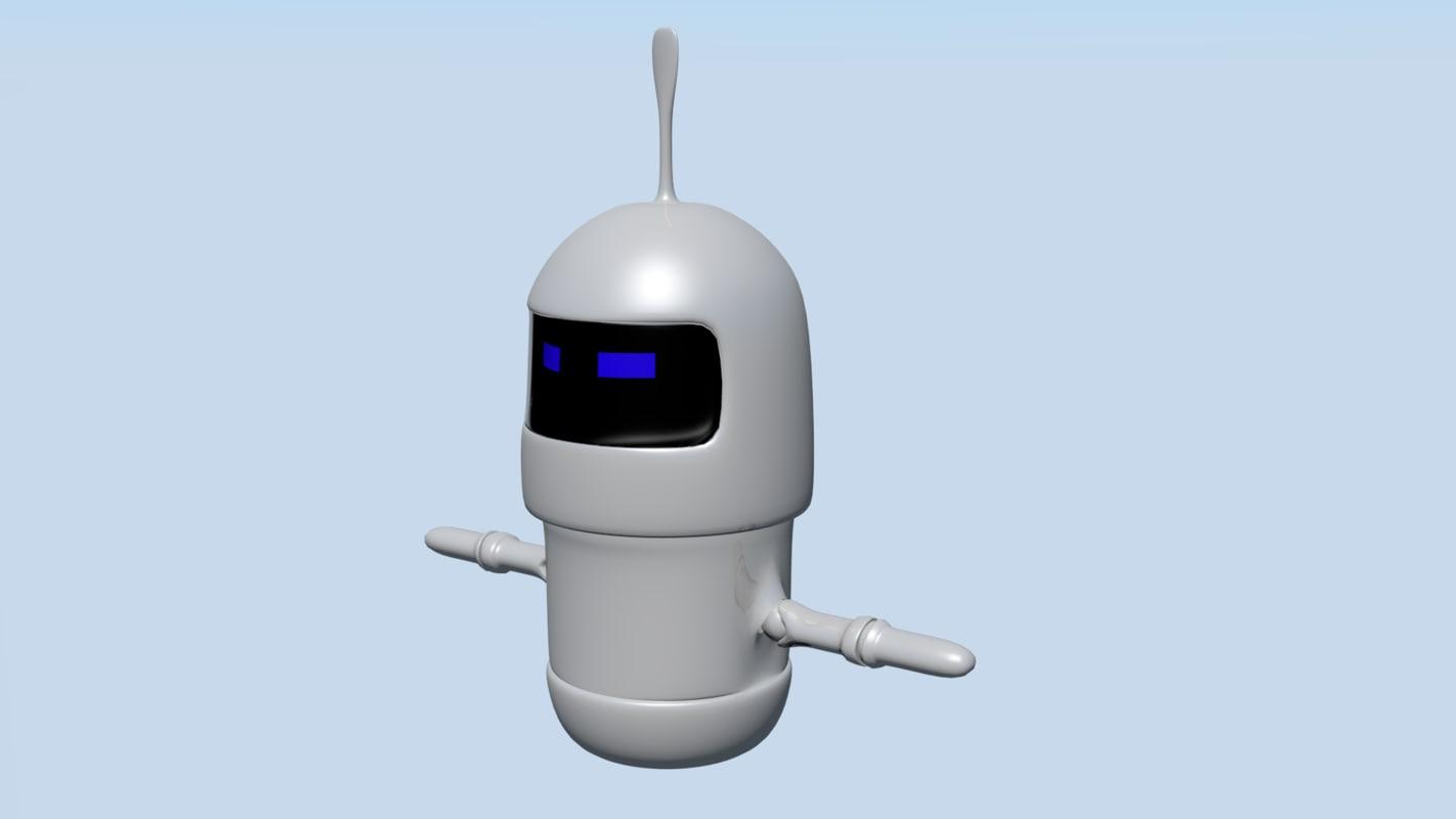 robot franky 3d model
