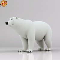 polar bear quadruped obj
