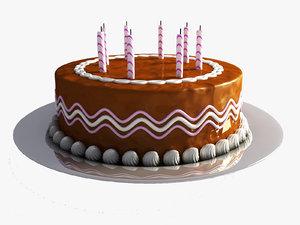 birthday cake 3d max