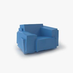3d model cappellini tron chair