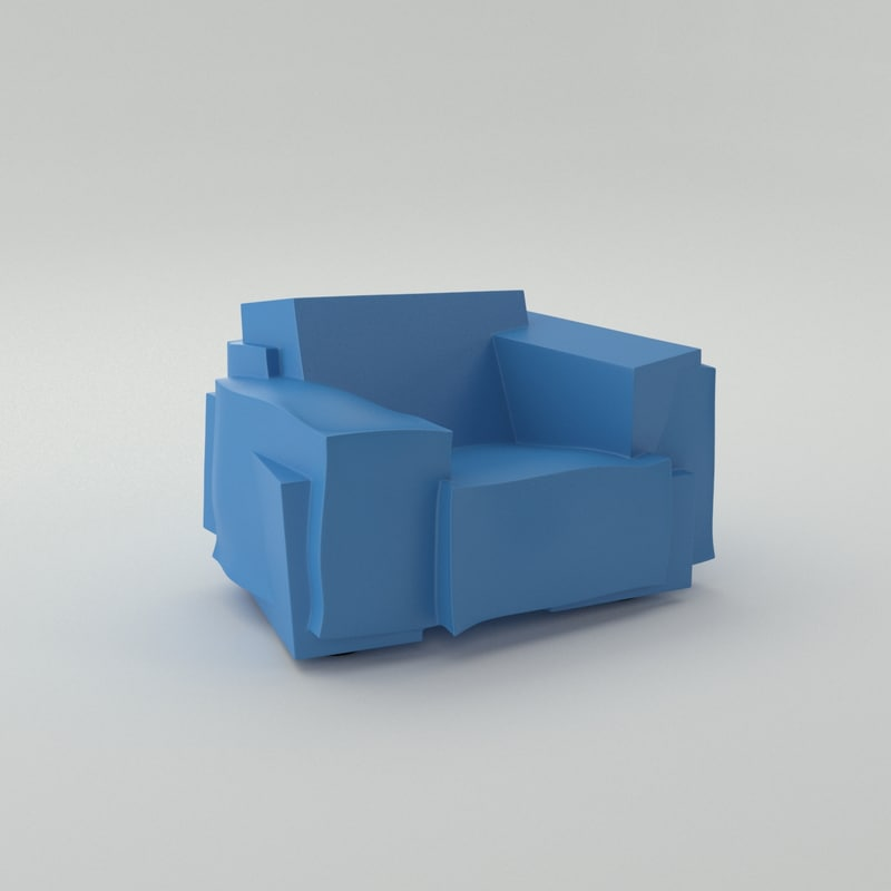 3d model cappellini tron chair