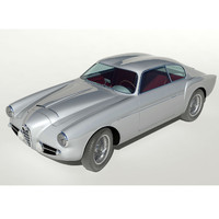 3d coachbuilt alfa romeo 1900 model