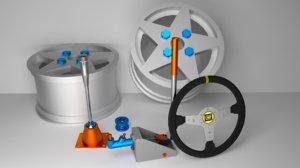 kit rally 3d model