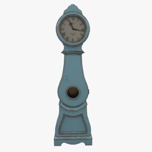 3d max painted grandfather clock