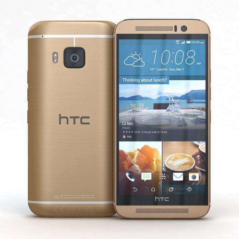 htc m9 amber gold 3d model