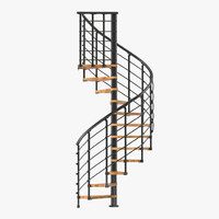 3d stairs 5 modeled model