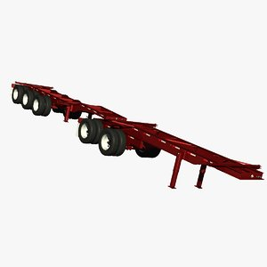 container chassis trailer 3d lwo