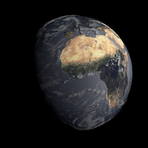 3d earth clouds model