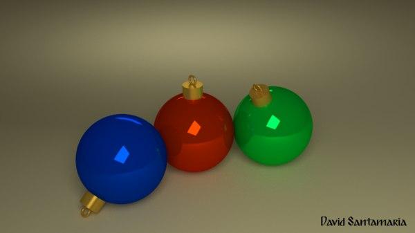 3dsmax christmas tree balls