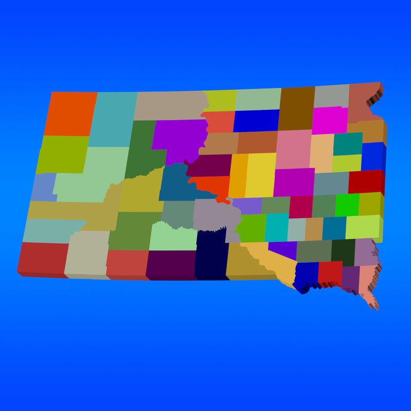 3d counties south dakota