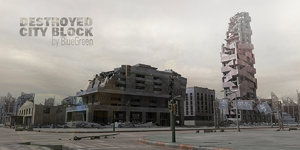 destroyed city block 3d 3ds