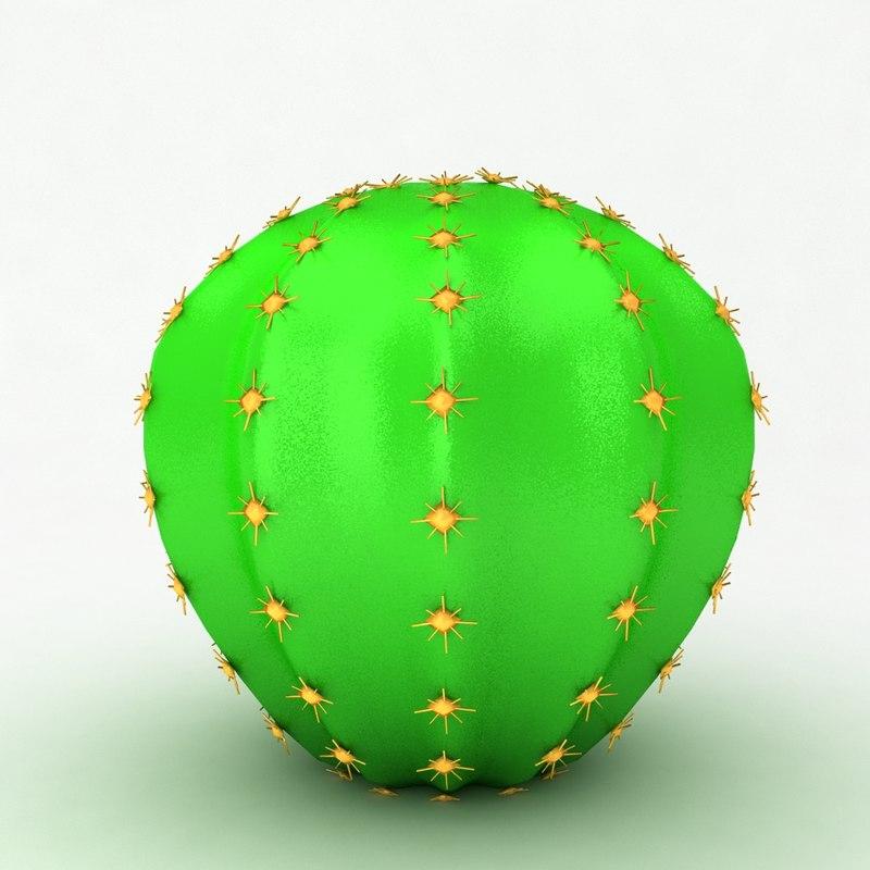 3d cactus cartoon
