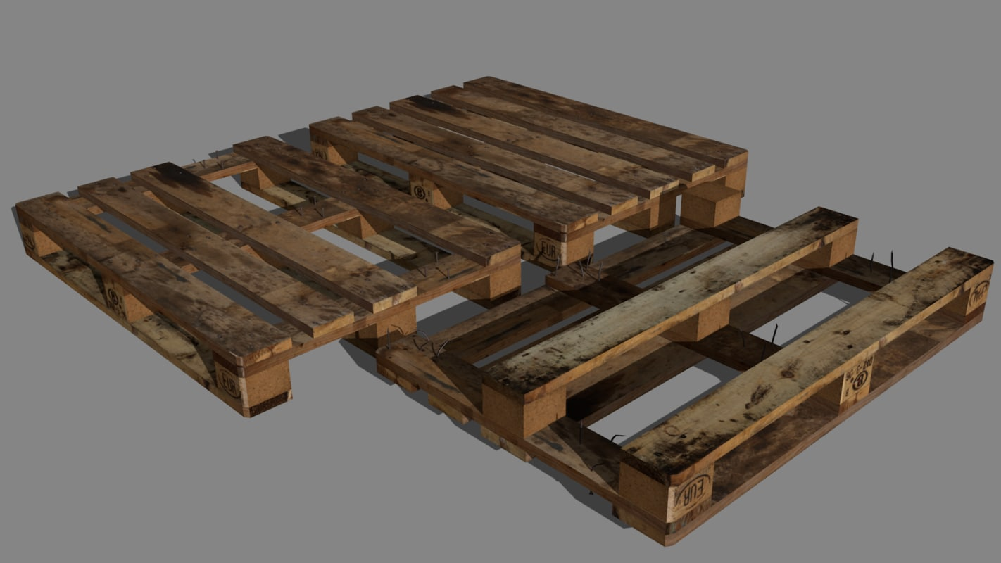 3d model of wood pallet