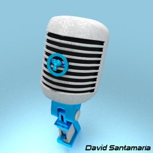 old microphone 3d 3ds