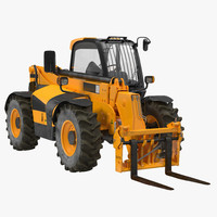 3d telescopic handler forklift generic model