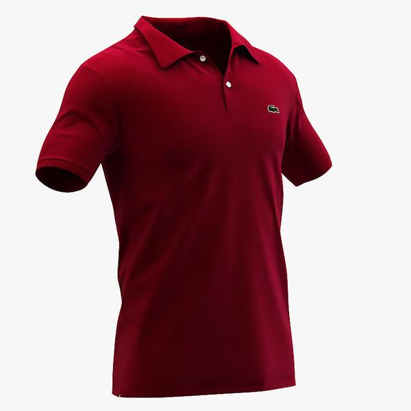 - lacoste polo shirt 3d 3ds