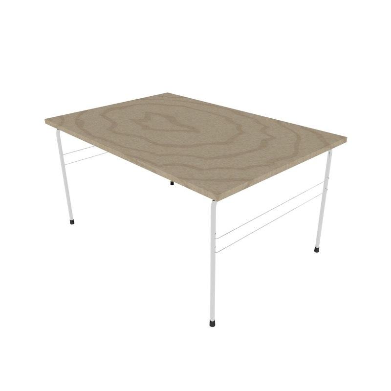 blender tubular steel table 3d model