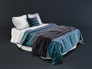 3d model linen beds