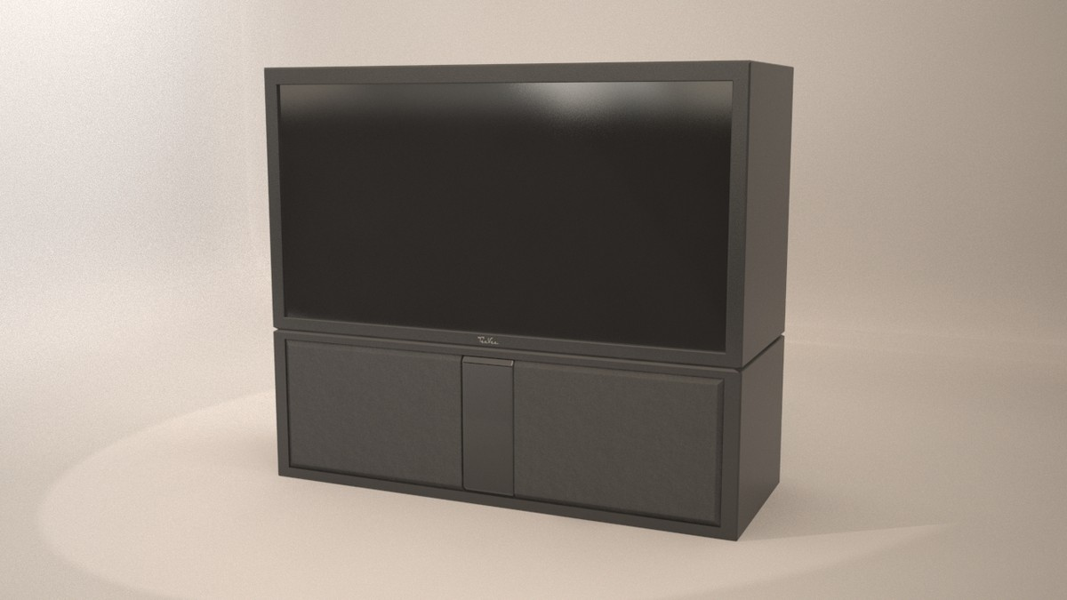 3dsmax tv projection televisions