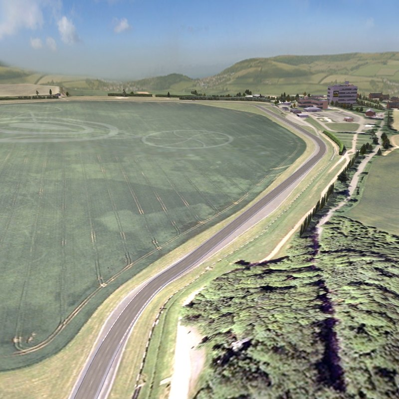 3ds max race track