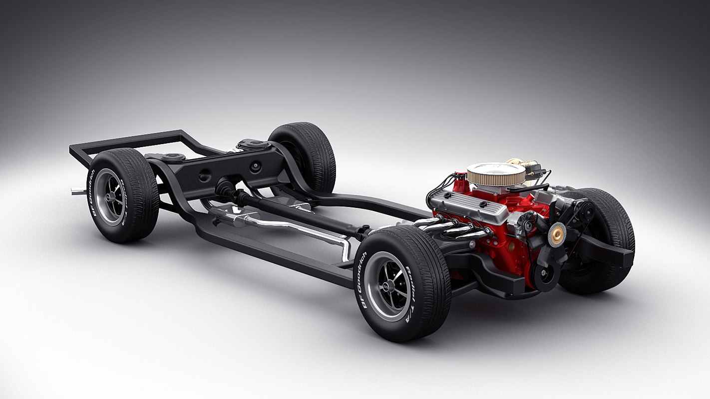 3d model car chassis