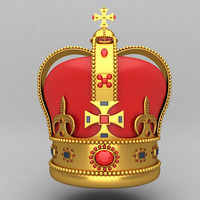 crown king ornaments 3d model