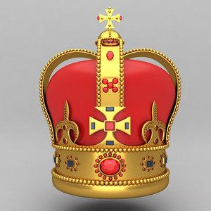crown king ornaments 3d model
