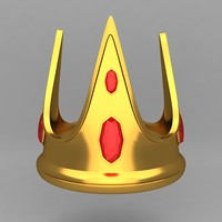3d model of crown king ornaments
