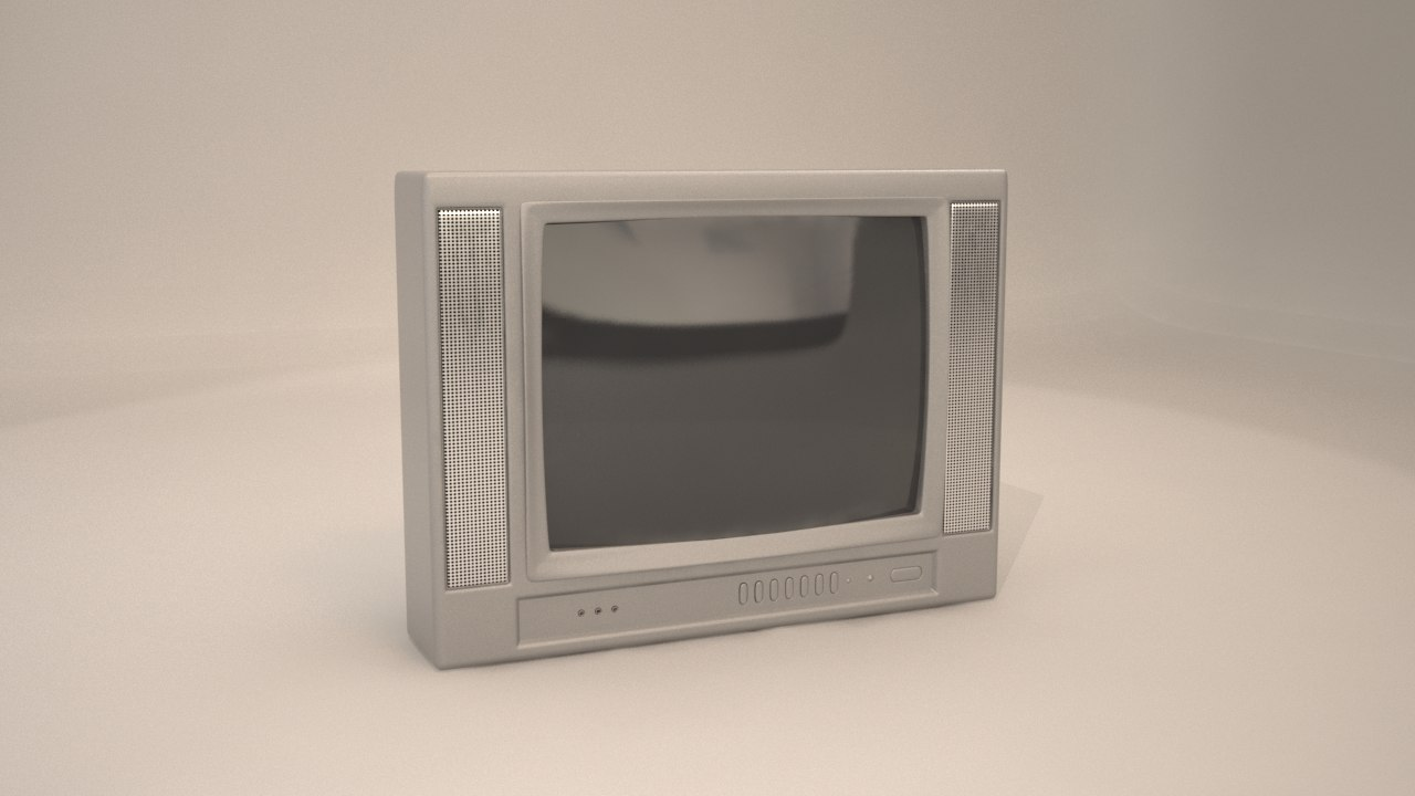 3d 90 s television model
