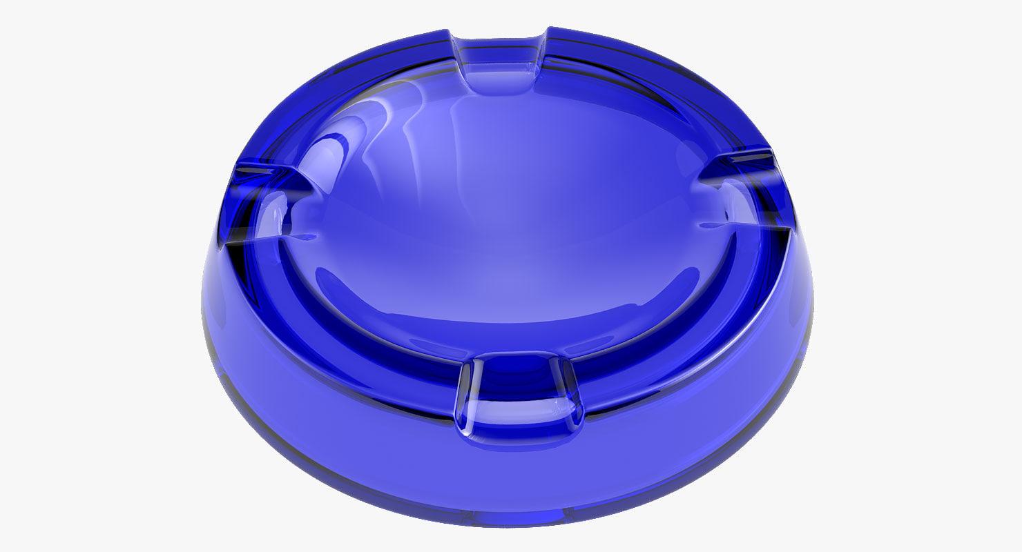 3d max glass ashtray