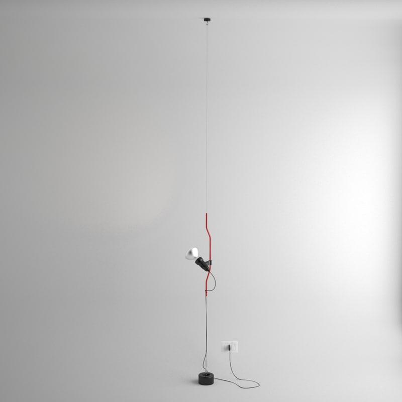 3d model flos parentesi lamp castiglioni