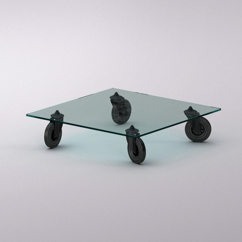 3d model fontanaarte tavolo ruote table