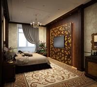 3d bedroom classic wall