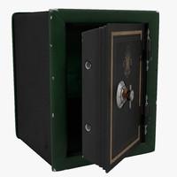 3d model old safe 3